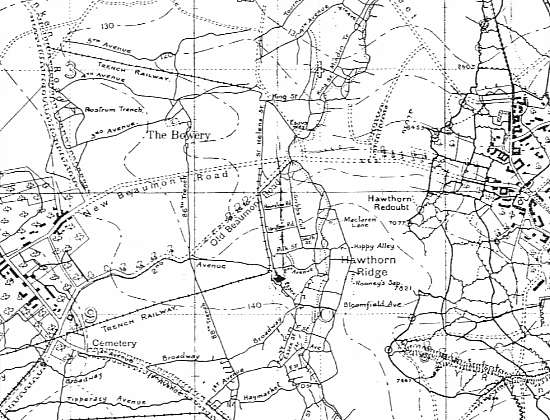 france the somme beaumont hamel hawthorn ridge 2 jun 1916 trench map
