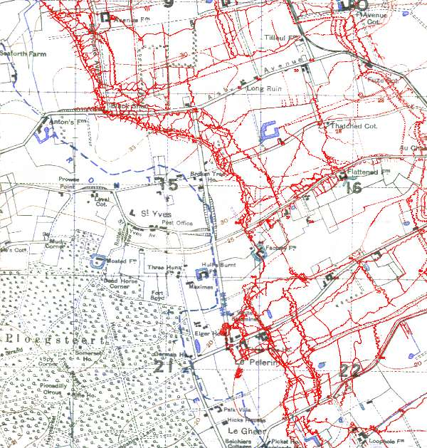 Trenches on the Web - Map Room: The Trenches at Messines 1916-17