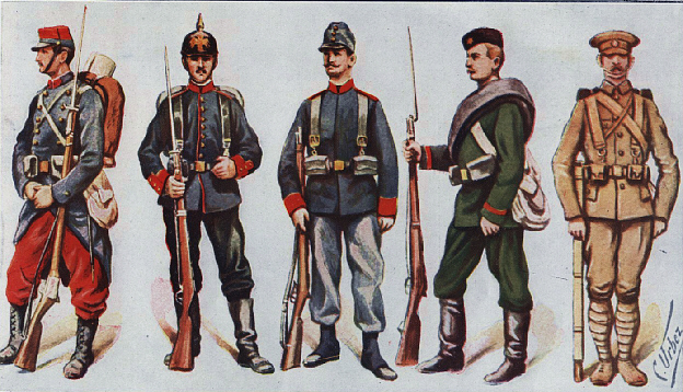 1914 Infantry Uniforms Depicted in Spanish Magazine La Isfera