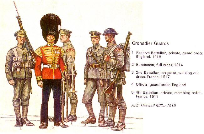 British Guards Uniform Ww 50